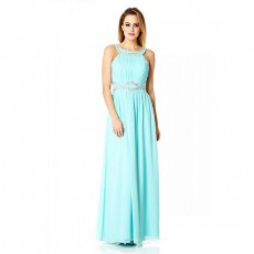 QUIZ - Chiffon Embellished Maxi Dress